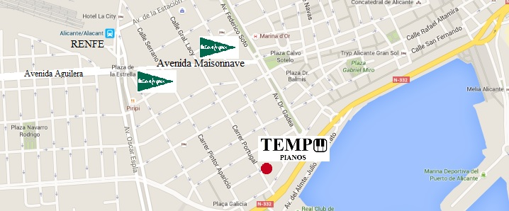 Mapa calle portugal